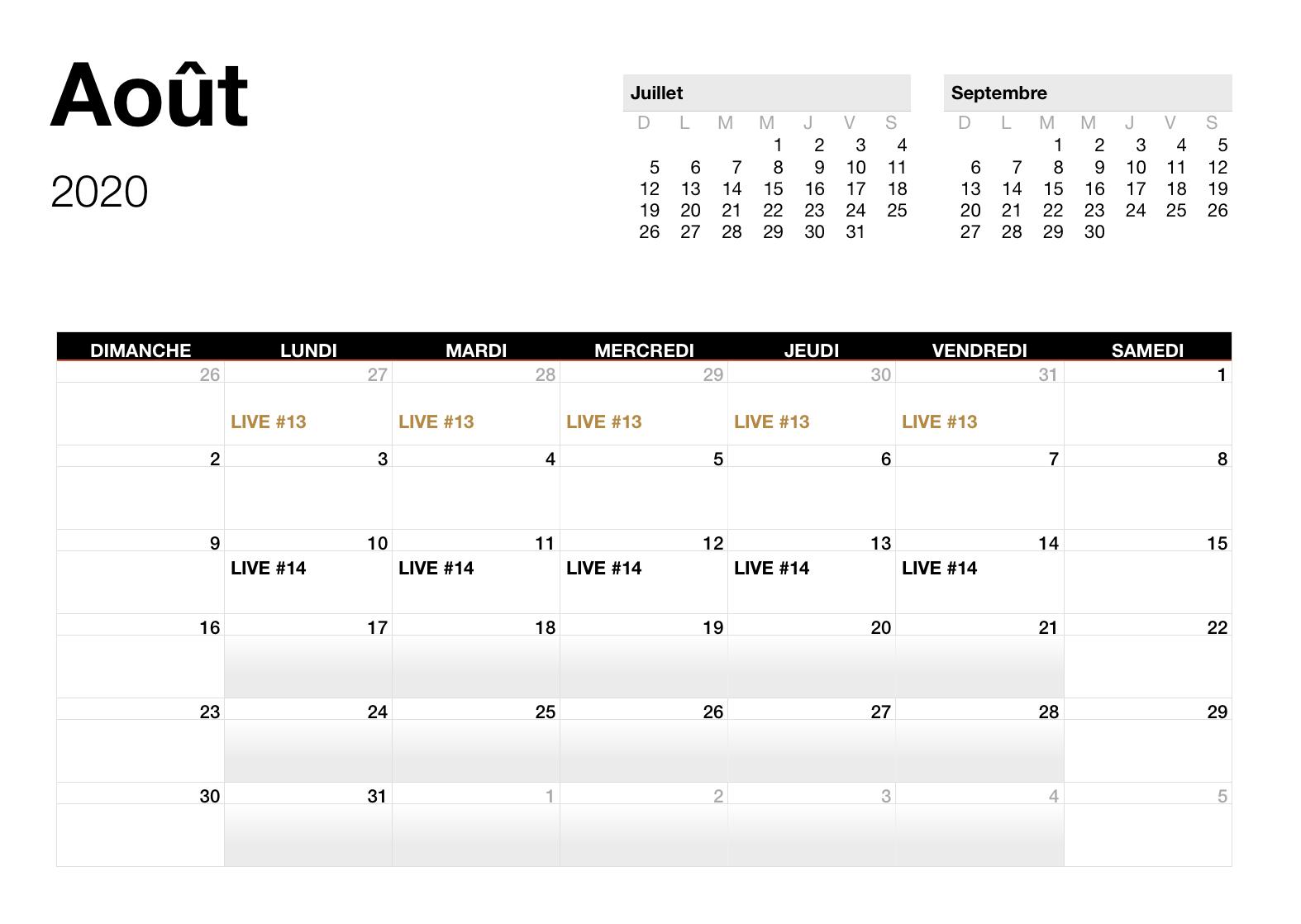 Aout - 2020